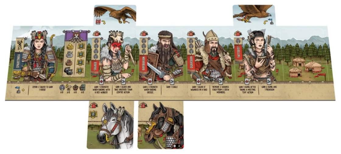 Saqueadores de Escitia juego de mesa