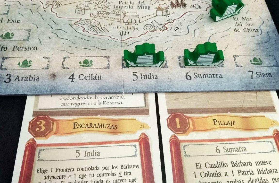 Las Expediciones Ming juego de mesa