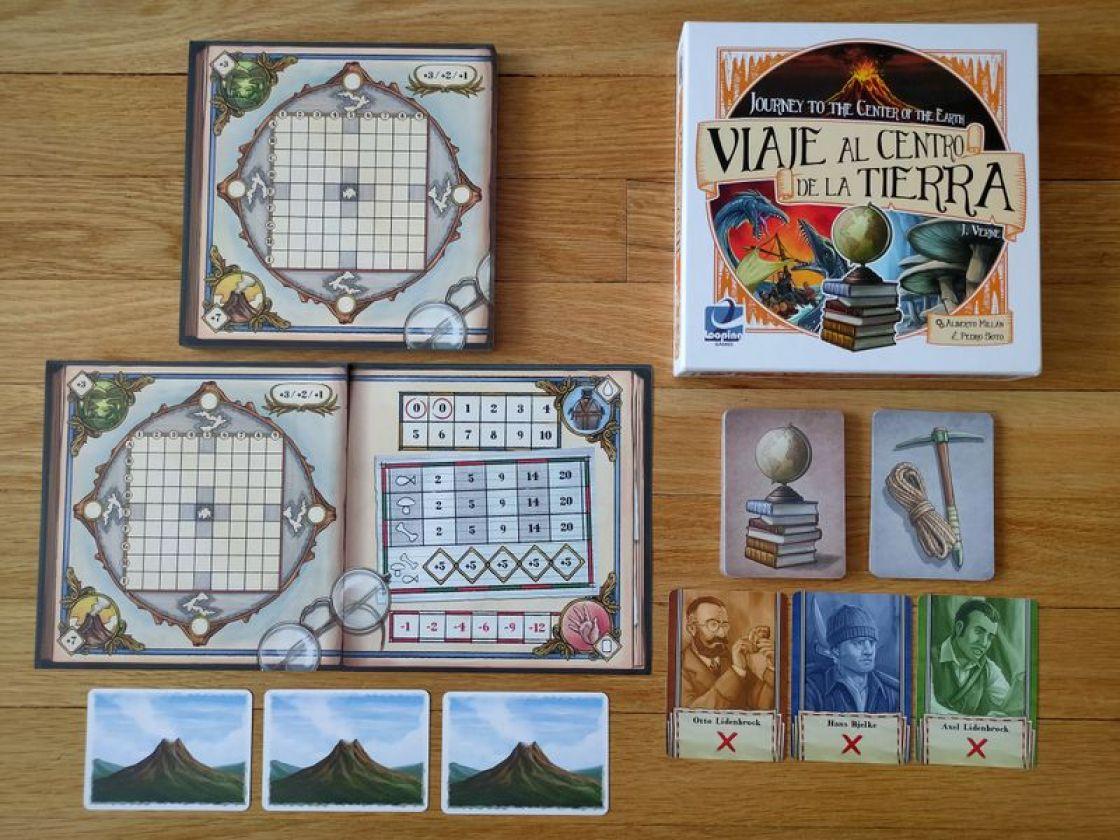 Viaje al centro de la tierra juego de mesa