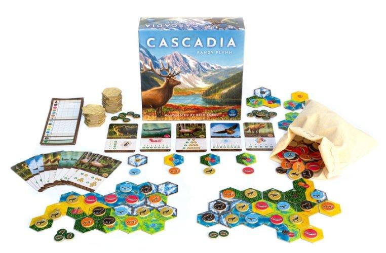 Cascadia juego de mesa