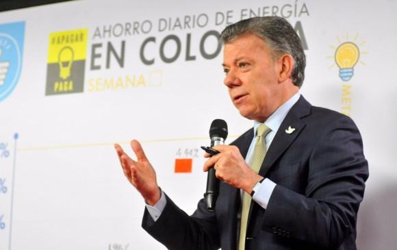 El presidente Juan Manuel Santos informó que este sábado se definirá si se harán cortes de energía eléctrica en el país. FOTO COLPRENSA