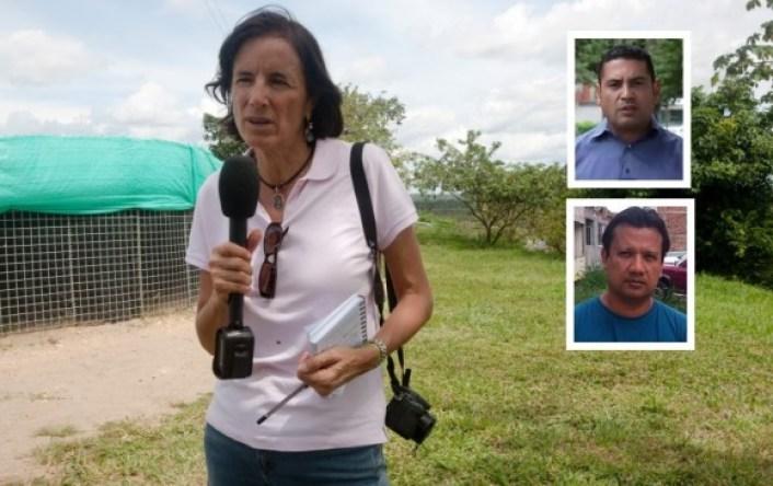El comandante del Ejército, general Alberto José Mejía, anunció este martes una recompensa de 100 millones de pesos para dar con el paradero de la periodista. FOTO AFP