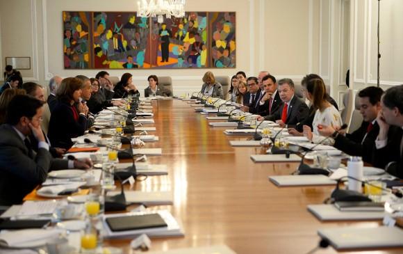 En Consejo de Ministros todos los altos funcionarios del Gobierno renunciaron. FOTO: Cortesía Presidencia