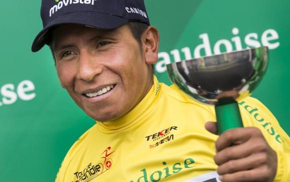 Con el triunfo en Romandía, Nairo Quintana ya suma once vuetltas en su palmarés. FOTO AP