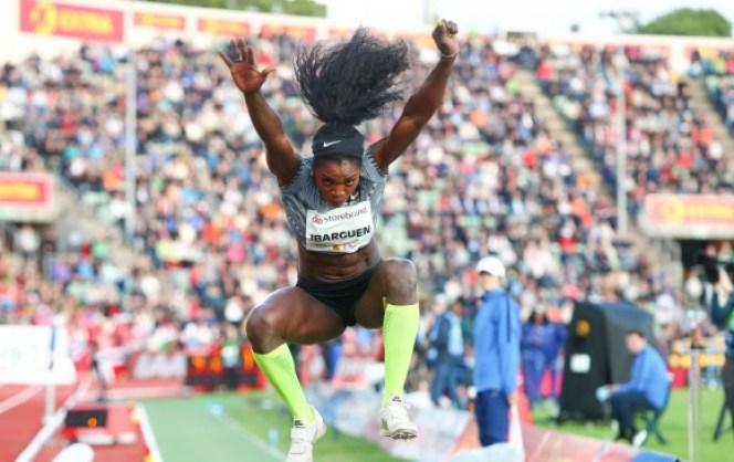 Caterine logró su primer triunfo de la temporada en salto triple en la Liga Diamante. FOTO AFP