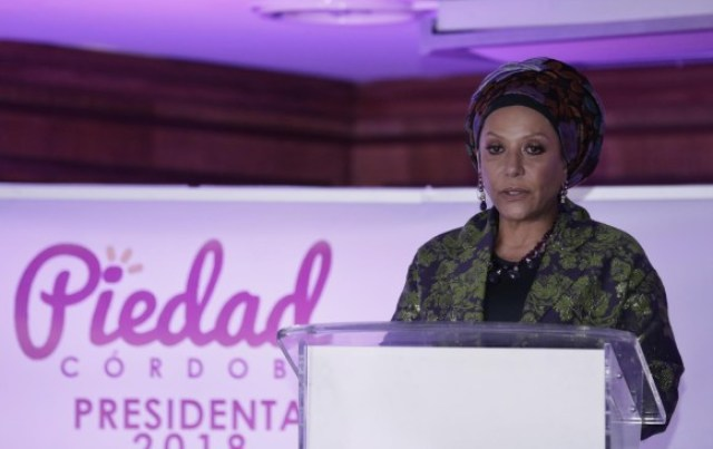 La exsenadora y excandidata presidencial Piedad Córdoba. Foto: Colprensa.