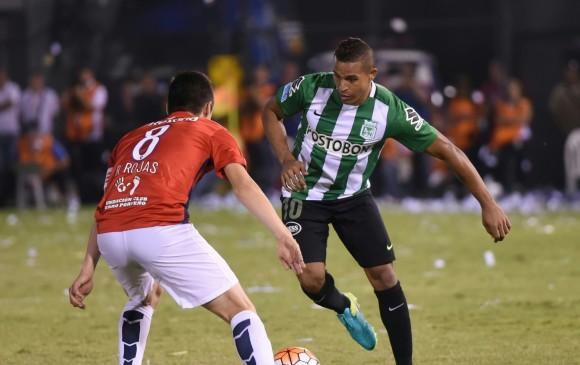 En la acción, Macnelly Torres durante el encuentro de ida frente al club paraguayo, que finalizó con un empate 1-1. FOTO afp