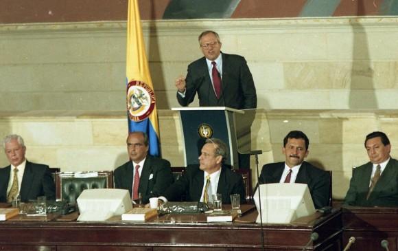 """El país no absolvió a Samper"""": Pastrana"""