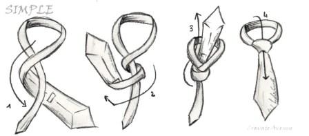 nudo de corbata simple