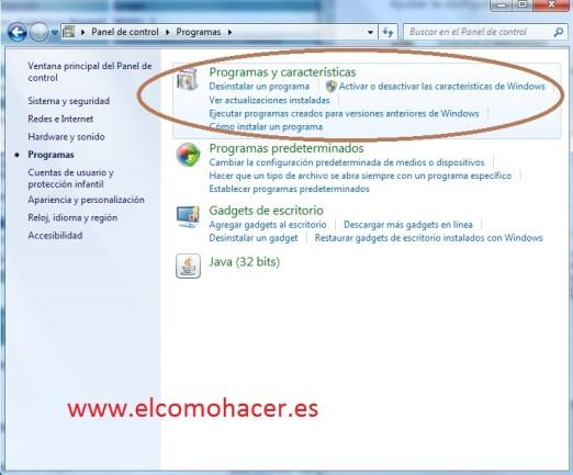 Activar telnet_windows 7