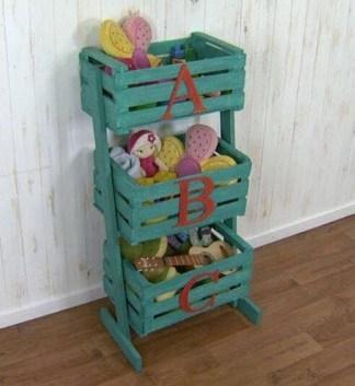 reciclar caja de fruta para almacenamiento
