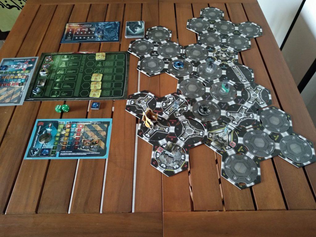 Imagen del juego Aliens: Hadley´s Hope desplegado en mesa
