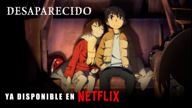 Imagen promocional de la serie de anime Erased / Desaparecido
