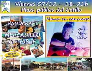 El Cotillo Craft Market 7th December – with live music