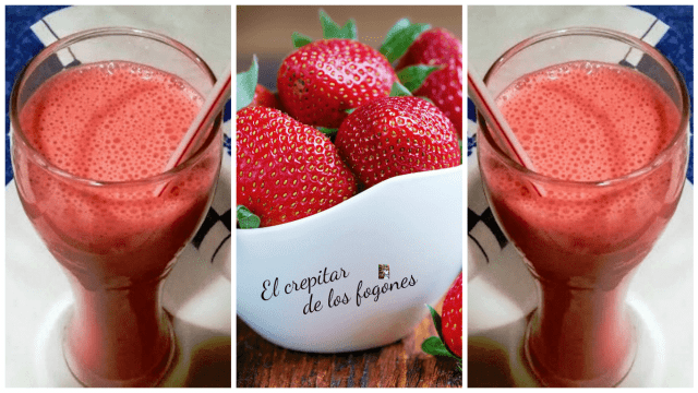 batido de fresas cremoso