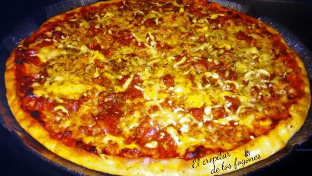 pizza de ternera y bacon