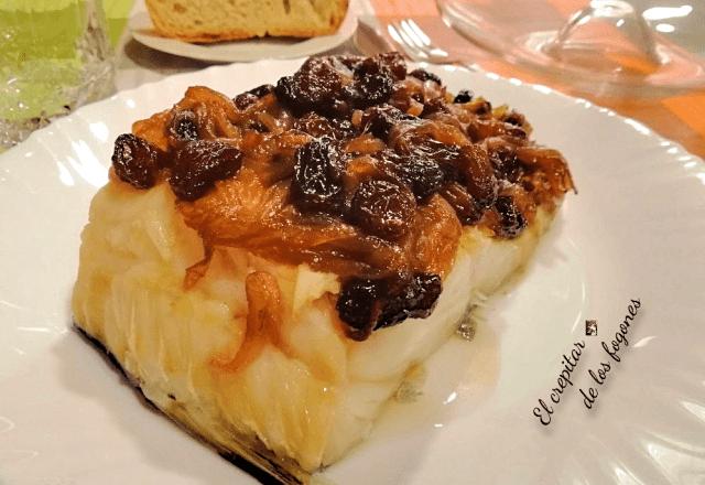 bacalao con cebolla caramelizada