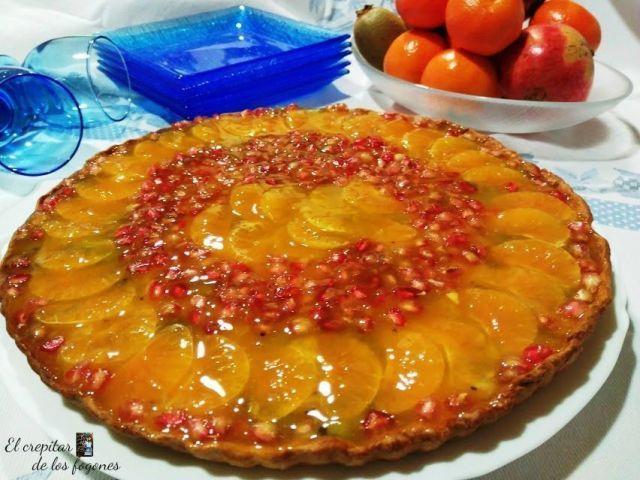 tarta de mandarina