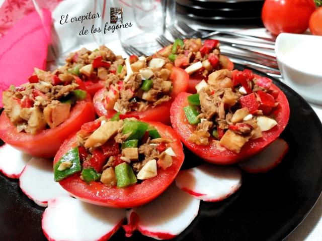 tomates rellenos con salpicón