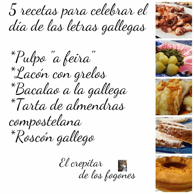 SABOREANDO GALICIA (5 recetas para el Día de las letras Gallegas)