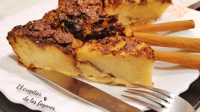 PASTEL DE TORRIJAS CON CANELA Y CHOCOLATE