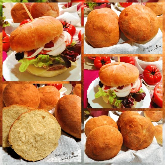 bollos de hamburguesa