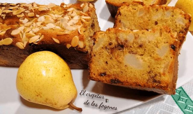 pastel de pera