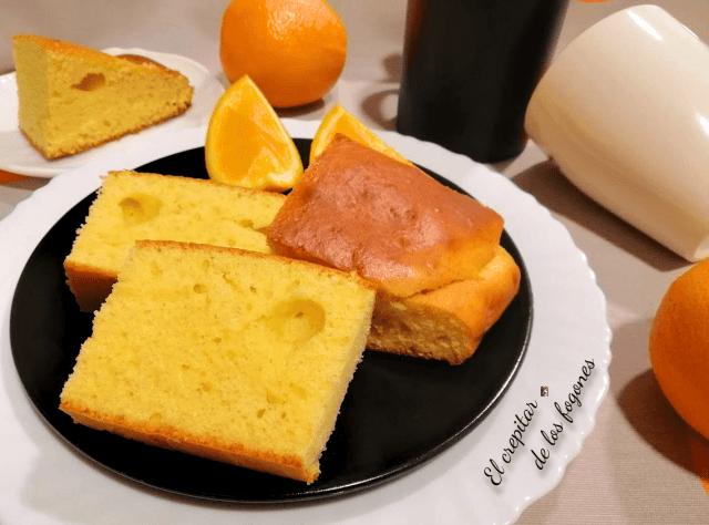 bizcocho de leche condensada y naranja