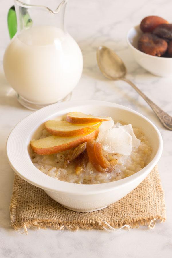 Gachas o crema de arroz