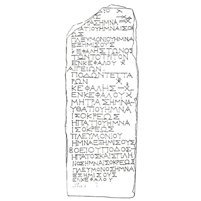 Η αγορανομική επιγραφή του Πειραιά