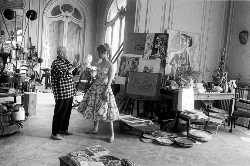 Πικάσο και Μπριζίτ Μπαρντό στο στούντιο του Βαλορί