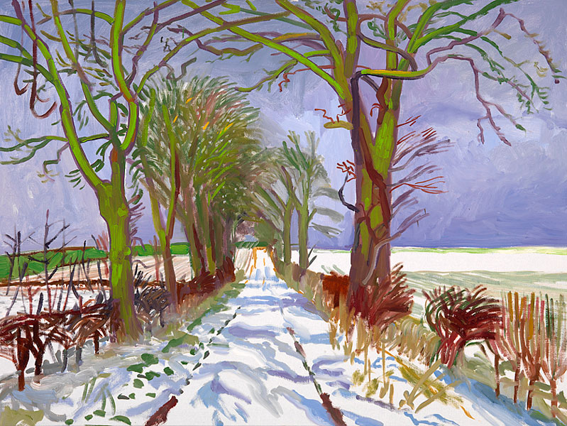 Winter Tunnel with Snow, David Hockney (March 2006)