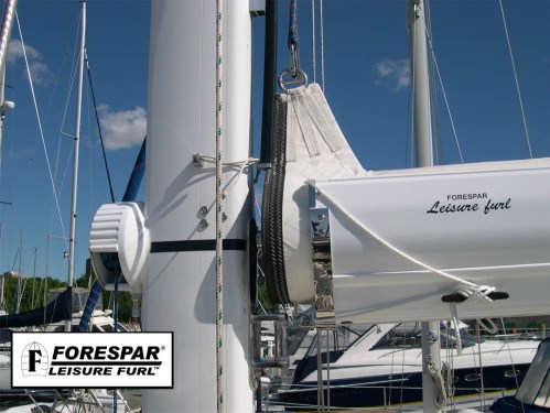 small resolution of main sail furling system fitting in the boom