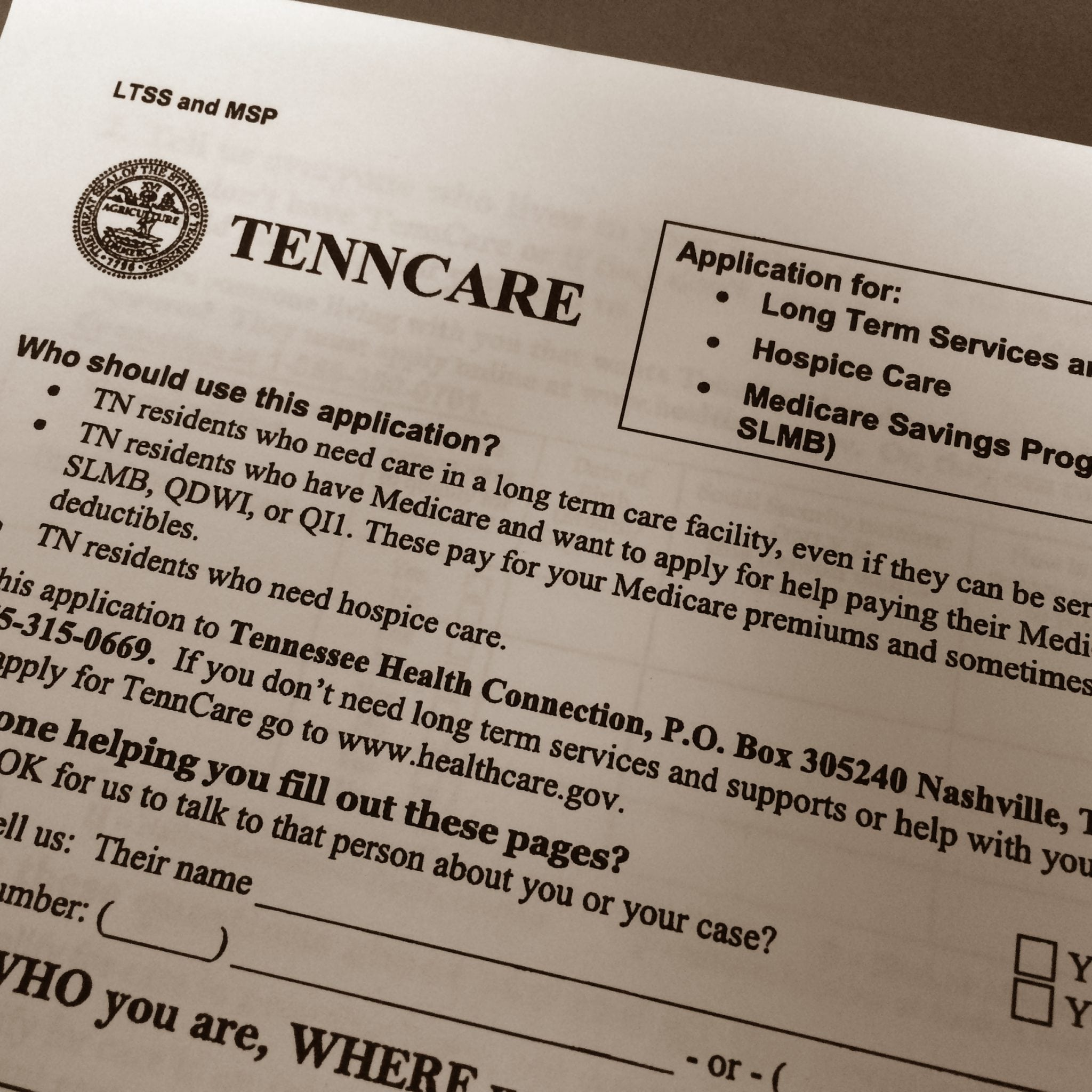 TennCare Applicants:  Beware of Conditional Assistance