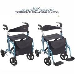 Walker Chair Combo Tub Grey Velvet Juvo Mobi Transporter: Rollator And Transport | Elderluxe