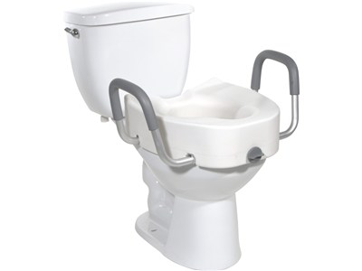 shower chair with wheels and removable arms inexpensive covers for weddings premium raised toilet seat model 12013 both regular elongated toilets   elderluxe