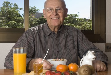Senior Man Eating Healthy Breakfast Ways to Maintain a Healthy Diet for Seniors