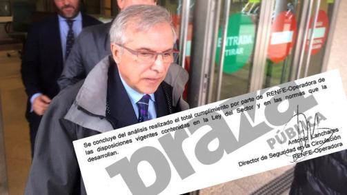 Antonio Lanchares, imputado por el accidente de Angrois, y su firma en la auditoría sobre seguridad encargada en 2013