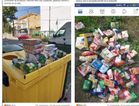 Cuidado con las fotos sin pruebas que acusan a inmigrantes y musulmanes de desperdiciar comida