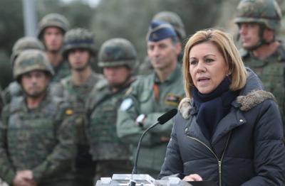 La ministra de Defensa, María Dolores de Cospedal supervisa el ejercicio 'Eagle Eye' de integración y coordinación de las Fuerzas Armadas en el sistema de Defensa Aérea
