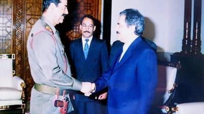 Sadam Hussein apoyó al antiguo líder de la Organización de los Muyahidines del Pueblo de Irán (MeK, en sus siglas en inglés), Masud Rayaví