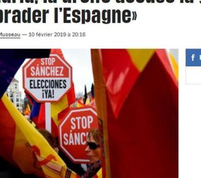 """""""En Madrid, la derecha acusa a la izquierda de 'liquidar España'"""", en 'Liberation'"""