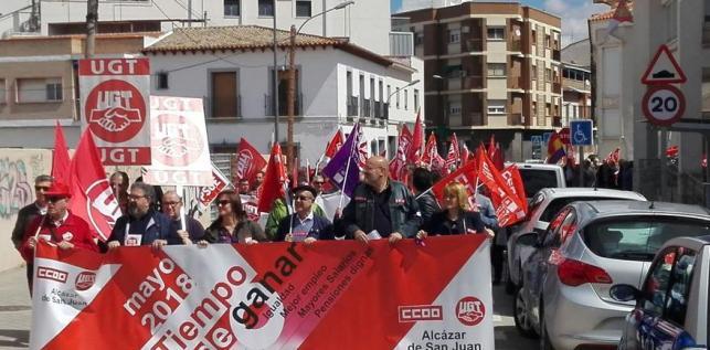 Manifestación en Alcázar de San Juan