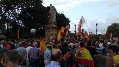 Manifestación de Ciudadanos en el Parque de la Ciutadella