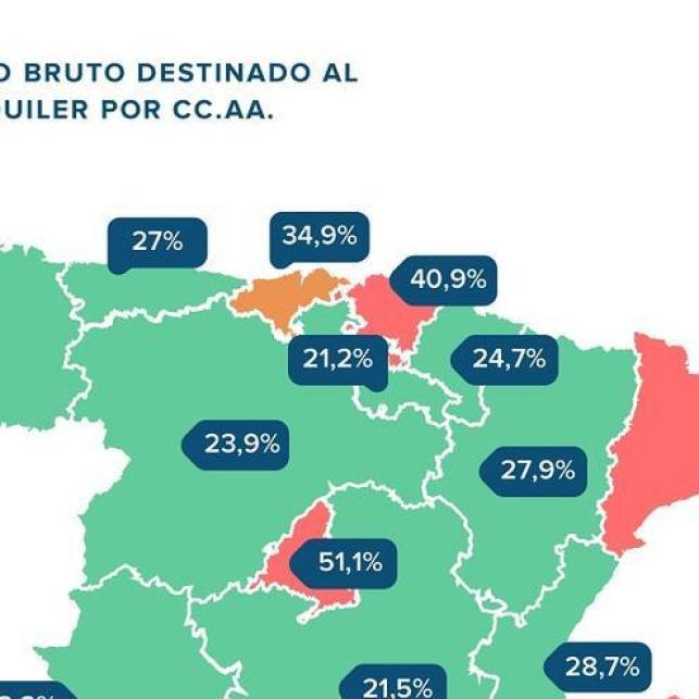 Mapa del alquiler en España