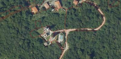 Vista área de la mansión de Lorenzo Vidal de la Peña.