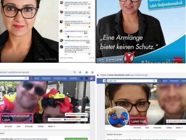 Los perfiles duplicados de la candidata del AfD, Laleh Hadjimohamadvali