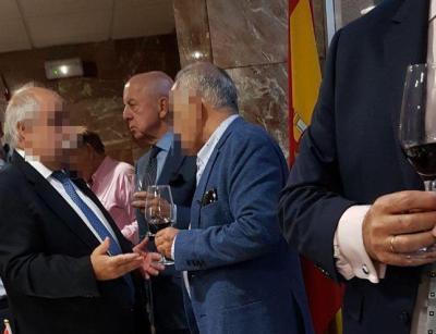El policía jubilado Billy el Niño, en una fiesta en una comisaría de Madrid.