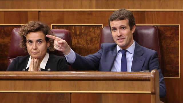"""Casado reclama que Sánchez explique en el Congreso """"su orden"""" a la Abogacía para no acusar por rebelión en el 1-O"""