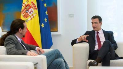 Comienza la reunión de Sánchez con Iglesias para pedir apoyo a la investidura